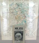 WW1 SUPER RARE BELGIUM ARMY 1914 -1918 CAMPAIGN BOOKLET + ORIGINAL MAP.