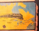 c1919 SUPER RARE / GENUINE CANADIAN NATIONAL RAILWAYS LARGE PROMOTIONAL POSTER.