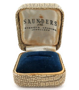 VINTAGE A. SAUNDERS Ltd, SYDNEY JEWELLERS RING BOX.