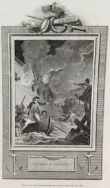 """RARE 1810 COPPERPLATE ENGRAVING. """"THE SIEGE of GIBRALTAR"""" by SMIRLEE & A SMITH"""