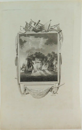 """RARE 1813 COPPERPLATE ENGRAVING. """"DESTRUCTION of a FRENCH SQUADRON"""""""