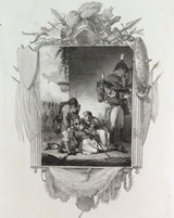 """RARE SUPERB 1809 COPPERPLATE ENGRAVING. """"DEATH of JOHN MOORE, BATTLE of CORUNNA"""""""