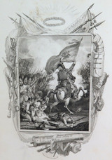 "RARE 1810 COPPERPLATE ENGRAVING. ""ARCHDUKE CHARLES, BATTLE of ASPERN"""