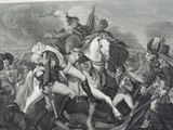 """RARE SUPERB 1817 COPPERPLATE ENGRAVING. """"THE DEATH of GENERAL ABERCROMBIE"""""""