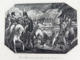 """RARE SUPERB 1817 COPPERPLATE ENGRAVING. """"THE GRAND CHARGE at MAIDA"""""""