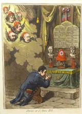 "RARE 1798 JAMES GILLRAY AQUATINT ""SHRINE at ST ANN'S HILL""  100% GENUINE!"