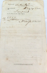1807 STAMP OFFICE PECUNIARY LEGACY RECEIPT & DISCHARGE HANDWRITTEN FORM.