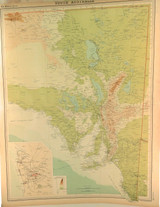 """1922 SUPERB SCARCE LARGE MAP of """"SOUTH AUSTRALIA"""". VERY NICE!"""