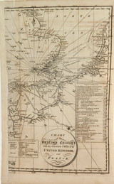 """RARE 1816 COPPERPLATE ENGRAVE MAP """"BRITISH CHANNEL"""" SHOWING INVASION DATES SITES"""