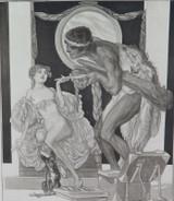 1914 RARE FRANZ VON BAYROS EROTIC HELIOGRAVURE ex LIMITED EDITION SERIES. #5