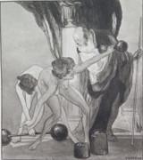 1914 RARE FRANZ VON BAYROS EROTIC HELIOGRAVURE ex LIMITED EDITION SERIES. #7