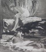 1914 RARE FRANZ VON BAYROS EROTIC HELIOGRAVURE ex LIMITED EDITION SERIES. #10