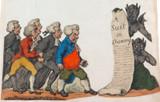 "RARE c1803 ENGLISH ARTIST PIERCY ROBERTS SATIRICAL ""TEMPTATION for LAWYERS""."