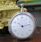 Late 18thC. Fischer London 65mm Verge Repeater Bell Pair Cased Pocket Watch