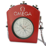 Vintage 1966 Omega RATTRAPANTE Split Second Stop watch With Outer Red Case