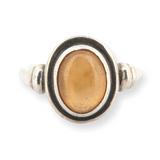 Vintage Sterling Silver & Citrine Gemstone Ring 4.4g