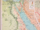 1922 SUPERB SCARCE LARGE MAP of EGYPT and the NILE. VERY NICE!