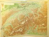 1922 SUPERB SCARCE LARGE MAP of SWITZERLAND. VERY NICE!