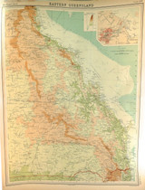 """1922 SUPERB SCARCE LARGE MAP of """"EASTERN QUEENSLAND"""". VERY NICE!"""