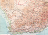 1922 SUPERB SCARCE LARGE MAP of SOUTH AFRICA. VERY NICE!