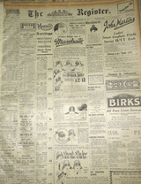 """1926 RARE LARGE JOB LOT of 30 """"THE REGISTER"""" ADELAIDE NEWSPAPERS"""