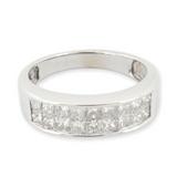 1.80ct Princess Cut Diamond Invisible Set 14K White Gold Ring Size N Val $7170