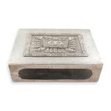 VINTAGE MEXICAN AZTEC DESIGN STERLING SILVER MATCHBOX HOLDER.