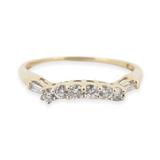 A 14k Yellow Gold Diamond Set Contoured Ladies Ring Size R Val $1930