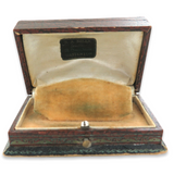 RARE EARLY 1900s S. A. MILLS, JEWELLER, QUEEN ST, MASTERTON NZ WATCH BOX.