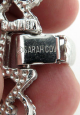 LARGE SARAH COVENTRY SILVERPLATED BRACELET. GREAT CONDITION.