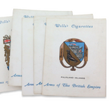 """FULL SET of 25 1st SERIES 1933 W.D & H.O. WILLS """"ARMS OF THE BRITISH EMPIRE""""."""