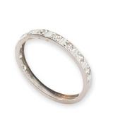 Vintage Platinum Single Cut Diamond Dress Ring Size M1/2 Val $1530