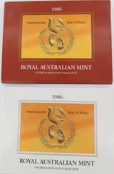 1986 AUSTRALIAN RAM UNC SET. YEAR of PEACE.
