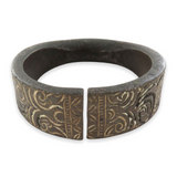 """1700s / 1800s SUPERB HEAVY DECORATIVE BRONZE AFRICAN """"MANILLA"""" CURRENCY BRACELET"""