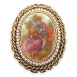 EXTREMELY NICE BARCS V 480 COSTUME JEWELLEY BROOCH.