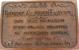 "SUPER RARE / BRISBANE 1901 ""THE ROXANA DISASTER"" MEMORIAL LARGE WOODEN PLAQUE."
