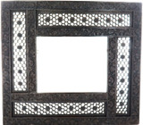 SUPERB LARGE MOROCCAN STYLE FLORAL THEME CARVED WOODEN PICTURE / PHOTO FRAME.
