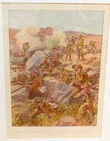 1900 BOER WAR LARGE COLOUR SUPPLEMENT ex THE GRAPHIC. MATTED READY TO FRAME. #1