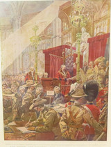 1900 BOER WAR LARGE COLOUR SUPPLEMENT ex THE GRAPHIC. MATTED READY TO FRAME. #2