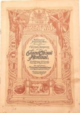 RARE WW1 1916 QLD PATRIOTIC FUND GRAND CHORAL FESTIVAL PROGRAMME.
