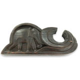 EARLY 1900s ASIAN / INDIAN SET SCALES in CARVED WOODEN ELEPHANT STORAGE CASE.