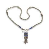Vintage Beautiful Handmade Sterling Silver & Enamel Decorative Necklace 47.1g
