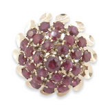 Vintage 14k Yellow Gold Natural Ruby Set Cocktail Ring Size J Val $4425