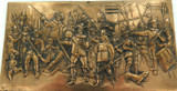 """VINTAGE HIGH RELIEF METAL PLAQUE - REMBRANDTS """"THE NIGHT WATCH""""."""