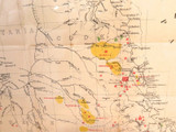 1888 RARE VERY LARGE MAP QLD MINERAL FIELDS INCL GOLD, COAL, SILVER, OPALS ETC.