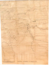 """1890 SUPER RARE VERY LARGE OFFICIAL QLD GOV MAP OF """"ENVIRONS of NORMANTON"""""""