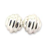 Vintage Sterling Silver Barra Sculptural Modernistic Clip on Earrings 18.3g