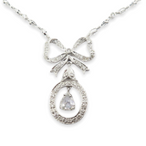 1.76 cttw Rose Cut & Brilliant Cut Diamond 18K White Gold Necklace Val $9310