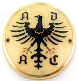 VINTAGE GERMAN ADAC HARD PLASTIC CAR BADGE.