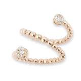 A wonderful 18k Rose Gold 0.26ct Diamond Set Spring Design Ring Size L Val $2480